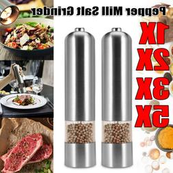 1/2/3/5PCS Electric Spice Salt Pepper Mill Grinder Stainless