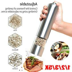 1/2/5X Stainless Steel Adjustable Electric Salt Pepper Spice