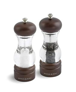 COLE & MASON 105 Forest Wooden Salt and Pepper Grinder Set -