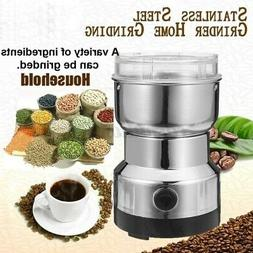 110v electric coffee bean grinder stainless steel