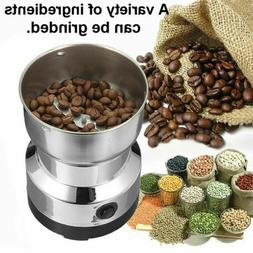 110V Electric Coffee Bean Grinder Stainless Steel Nut Spice