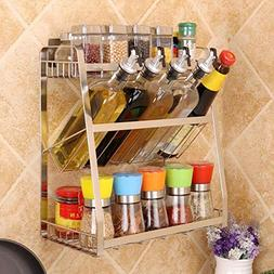 304 Stainless Steel Spice Rack Holder Floor Creative Kitchen