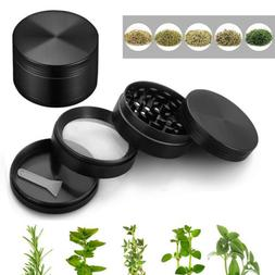 4 Layer Magnetic Tobacco Herb Grinder Black 2 Inch Spice Alu