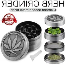 4-Layers Herb Grinder Spice Magnetic Herbal Metal Crusher Le