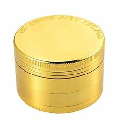 "Golden Bell 4 Piece 2"" Spice Herb Grinder - Gold"