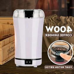 400W Electric Coffee Grinder Stainless Steel Beans Spices Gr