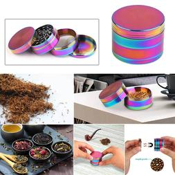63mm Rainbow Stainless Steel Spice Herb Grinder Cylinder 4 P