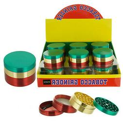 54mm Rasta Stainless Steel Spice Herb Grinder Cylinder 4 Pie