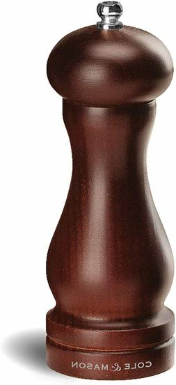 COLE & MASON Capstan Wood Pepper Grinder - Wooden Mill Inclu