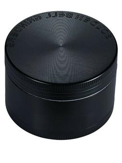 "Golden Bell 4 Piece 2"" Spice Herb Grinder - Color:Black"