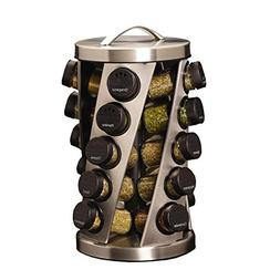 Kamenstein Twist 20-Jar Revolving Spice Rack with Free Spice
