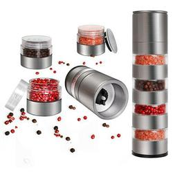Adjustable Multi Layers Salt Pepper Spice Mill Grinder Kitch
