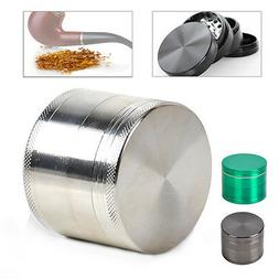 Alloy Silver Indian Crusher 2.0 Inch 4 Piece Tobacco Spice H