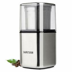 Secura Automatic Coffee Grinder and Spice Grinder with Stain