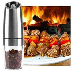 Automatic LED Stainless Electric Pepper Grinder Salt Spice c