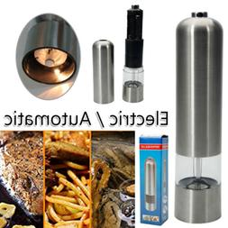Automatic Stainless Electric Pepper Grinder Salt Spice for C