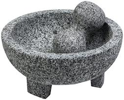Authentic Mexican Molcajete Lava Rock Mortar and Pestle Spic