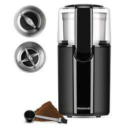 SHARDOR Coffee & Spice Grinders Electric, 2 Removable Stainl