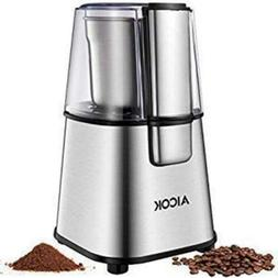 Aicok Coffee Grinder Easy Electric Nut Spice with Large 12 C