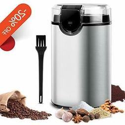 Keenstone Coffee Grinder Electric Bean Nut Spice Stainless S