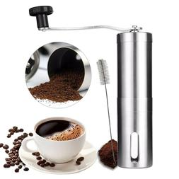 Coffee Grinder Manual Mill Hand Crank Beans Nuts Spice Adjus
