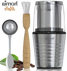 Coffee and Spice Grinder Set - Electric Mill with Two Grindi
