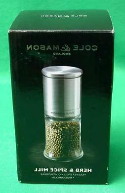 COLE & MASON HERB AND SPICE GRINDER GLASS JAR NIB