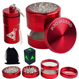 GREEN-DER Cool Herb Grinder Set for Weed, Spices, and Tobacc
