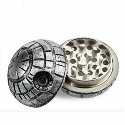 Death Star Herb Spice Grinder Aluminum 3 Piece 40mm
