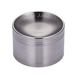 Golden Bell 4 Piece Dry Herb Grinder, 2.36 Inch - Nickel Bla