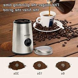 Secura Electric Coffee and Spice Grinder with Stainless Stee