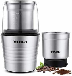 Electric Coffee Grinder & Spices with 2 Stainless-Steel Blad
