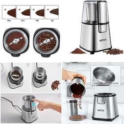 Aicok Electric Coffee Grinder Fast And Fine Spice Grinder Wi