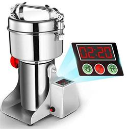 Electric Herb Grain Grinder Stainless Steel for Kitchen Herb