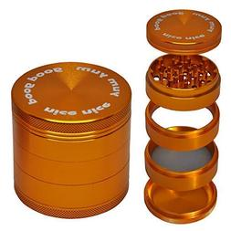 Grinder for Herbs and Spices with Large Catcher 5 Piece 2.5""