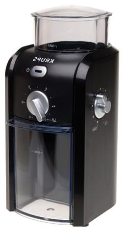 KRUPS GVX1-14 Coffee Grinder with Grid Size and Cup Selectio