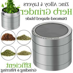 Herb Grinder Crusher for Tobacco 4 Piece Metal Hand Muller S