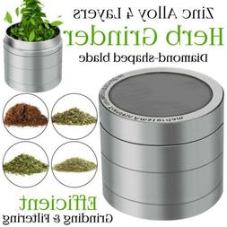 "Herb Grinder Crusher for Tobacco 4 Piece 2"" Zinc Hand Muller"