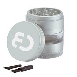 Herb Grinder with Pollen Catcher Large Spice Grinder Anodize