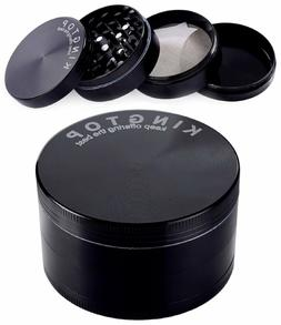 Kingtop Herb Spice Grinder Large 3.0 Inch Black