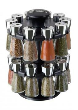Cole & Mason Herb and Spice Rack with Spices - Revolving Cou