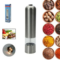 Home Kitchen Auto Stainless Steel Electric Salt Pepper Spice