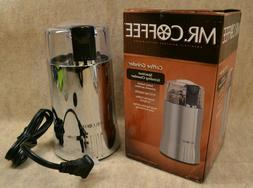 Mr. Coffee IDS59-4 Electric 2-2/7-Ounce Coffee Grinder, Chro