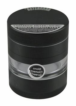 Kannastör Black & Clear-Mid Grinder 4 parts 54mm SKJ-BLK-M4