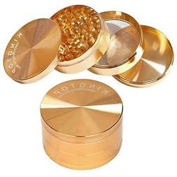 Kingtop Herb Spice Grinder Large 3.0 Inch Rose Gold Kitchen
