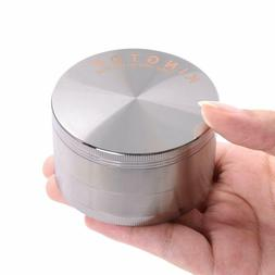 Kingtop Herb Spice Grinder Large 3.0 Inch Silver