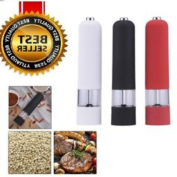 kitchen stainless steel electric salt pepper spice