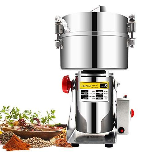 2000g Commercial electric stainless steel grain grinder mill