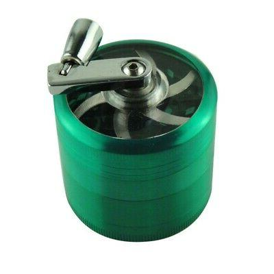 4 Layers Spice Grinder Smoke Zinc Alloy Hand Crusher