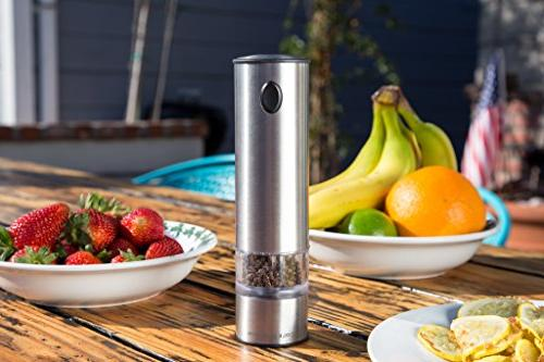 COLE MASON Electric Salt and Grinder LED -